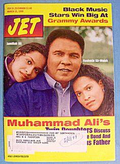 Muhammad Ali Twin Daughters   Jet Magazine March 15, 1999 Muhammad Ali & Daughters (Ebony/Jet) at A ...