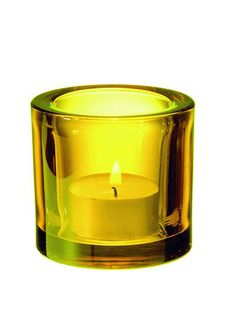 iittala Kivi Candle Holder - Yellow iittala Kivi, designed by Heikki Orvola, are simple and elegant Finnish glass votive candle holders. These premium colors have deep, complex hues that change color in different light. Yellow Candle Holders, Yellow Candles, Glass Votive Candle Holders, Candlestick Holders, Tea Light Holder, Candlesticks, Candle Jars, Tea Candles, Mood Light