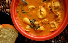 Take It Easy Creamy Tortellini Soup (2): Cozycakes Cottage