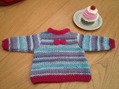 Baby jumper - cute bow detail, 0 - 3 months by MakerMouse on Etsy