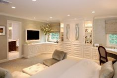Built in cabinets are beautiful and add an abundance of storage. The above can lighting really shows off the cabinets.