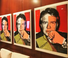 These prints by Andy Warhol are located outside of President Carter's office at The Carter Center.