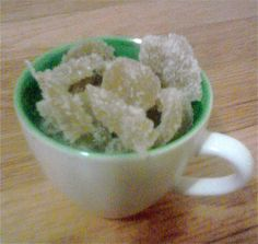 Homemade candied ginger