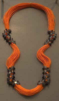 www.cewax.fr love this statement necklace ethno tendance, style ethnique, #Africanfashion, #ethnicjewelry - CéWax aussi fait des bijoux : http://www.alittlemarket.com/collier/fr_collier_plastron_multi_rang_ethnique_en_tissu_africain_beige_prune_jaune_-15921837.html -  Misun Won