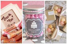 Bálsamo para labios, confites y macarrones son tan sólo algunos de los varios souvenirs que causan furor en los casamientos de este año. Cuál elegirías?