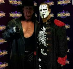Sting & The Undertaker--my wrestling dream team! And the subject of some of my dreams...