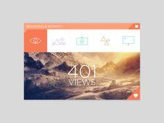 SJQHUB™ Visual Data 8 UI dashboard by Jonathan Quintin, via Behance