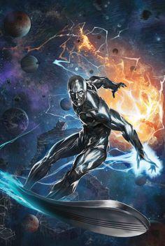 Silver Surfer by Skan Srisuwan - Marvel Comic Book Artwork Bd Comics, Marvel Comics Art, Marvel Comic Books, Rogue Comics, Ms Marvel, Marvel Heroes, Captain Marvel, Marvel Avengers, Comic Art