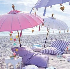 Can't wait to head to the beach this summer. I need these pastel umbrellas! Perfect for surf sand and sun! The Beach, Beach Bum, Summer Beach, Summer Vibes, Pink Summer, Hello Summer, Summer Travel, South Beach, Beach Picnic
