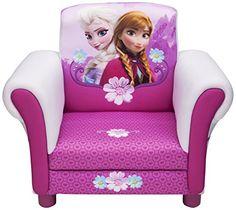 Childs Disney Frozen Anna & Elsa Arm Chair Upholstered Sofa Room Decor