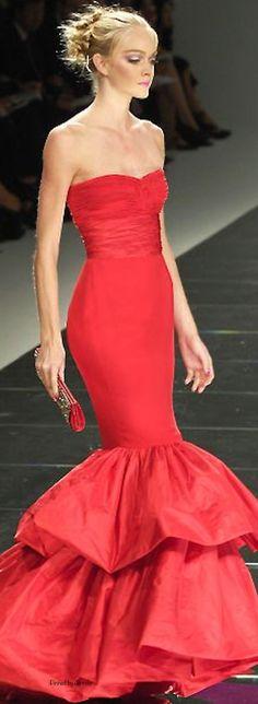 Valentino ~ Stunning Red Strapless Gown, 2014