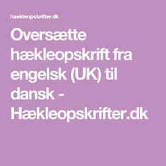 Oversætte hækleopskrift fra engelsk (UK) til dansk - Hækleopskrifter.dk
