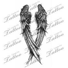 Fallen Angel wings custom tattoo | wings 3 #31308 | CreateMyTattoo.com