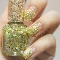 Sweet Environmental Protection Golden Nail Polish 12ml
