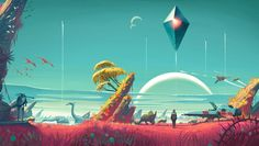 Video game No Man's Sky influenced by Psychedelic Art movement