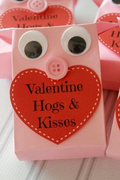 Valentine Hogs and Kisses