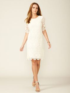 Cluny Embroidered Eyelet Shift Dress