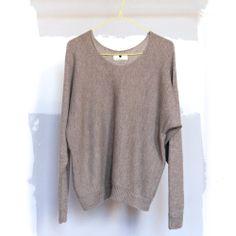 Primoeza Oatmeal Batwing Alpaca Sweater (os)
