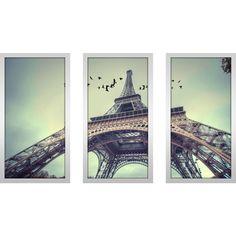 FramedCanvasArt.com  Eiffel Tower 3  Framed Plexiglass Wall Art ...  sc 1 st  Pinterest & torre u003c3 | u2022Eiffel Tower | Pinterest
