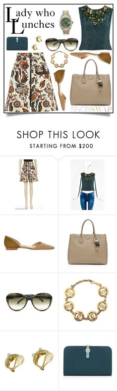 """Lady Who Lunches"" by snobswap ❤ liked on Polyvore featuring Fendi, Mikimoto and Hermès"