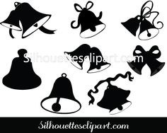 Bells Silhouette Clip Art Pack Free Download