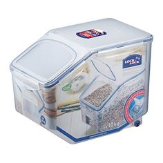 LOCK & LOCK Bulk Storage Bins Food Storage Container with Wheels 405.77-oz / 50.72-cup - These are the most purified containers we have ever made. As one of the world's leading food storage container manufacturers, we continue our tradition of supplying the highest quality products with our airtight food containers. We take pride in providing the most durable and safe products for ou...
