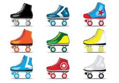 Roller Skating Party, Skate Party, Roller Derby, 4th Birthday, Clip Art, Shoes, Zapatos, 4th Anniversary, Shoes Outlet