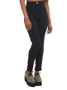 Almost Famous Blue High-Waisted Skinny Jeans | Hot Topic