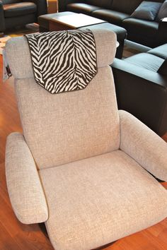 Recliner Chair Headrest Cover Brown U0026 White Zebra By ChairFlair Recliner  Chairs, White Zebra,