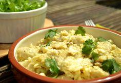 Egg dumplings with pickled lettuce/Tojásos nokedli ecetes salátával