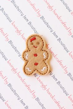 Embroidered Felt Gingerbread Girls - Red - Set of 4