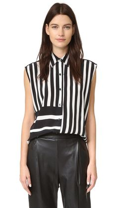 TOME Baja Stripe Lace Back Shirt. #tome #cloth #dress #top #shirt #sweater #skirt #beachwear #activewear