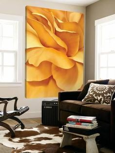 Loft Art: Closer to King Yellow by Yvonne Poelstra-Holzaus : 84x48in
