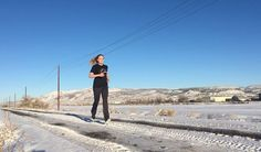 Running in snow #running