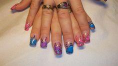 colorful hearts by moxy83 - Nail Art Gallery nailartgallery.nailsmag.com by Nails Magazine www.nailsmag.com #nailart