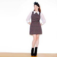 90s SCHOOL GIRL DRESS  // 90s dress grunge by paramountvintage, $84.00