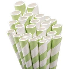 Jumbo Straw Unwrapped, 7-3/4 inch, 50/Pkg, Green
