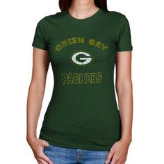 Green Bay Packers Ladies Celebrate the Game T-Shirt - Green Green Bay  Packers Shirts 24da84435
