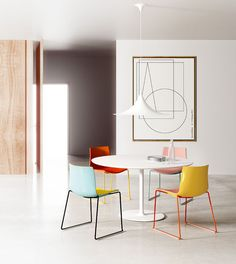 Catifa 46 0468 Duochrome Chair With Skids. This item has been created by the design studio Lievore, Altherr, Molina for the label Arper. Arper Furniture, Office Furniture, Diy Furniture, Furniture Design, Office Chairs, Interior Design Magazine, Dining Area, Dining Chairs, Interior Exterior