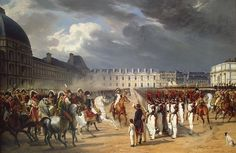 Invalid Handing a Petition to Napoleon at the Parade in the Court of the Tuileries Palace