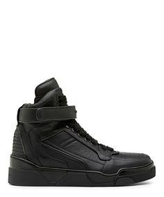 c6836fe2168d GIVENCHY MATT BLACK TYSON HIGH TOP SNEAKER-SS14PREGIVE8 - Sneakerboy Luxury  Shoes