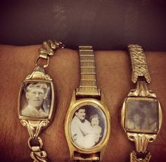 What a fun way to recycle vintage watches! Great gift idea..