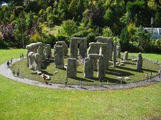 model village - stone henge Model Village, Garden Sculpture, Stone, Outdoor Decor, Rock, Stones, Batu