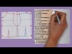 Pola Dasar Badan Wanita Dengan Sistem Praktis - YouTube Sewing Hacks, Sewing Tutorials, Sewing Projects, Projects To Try, Pola Lengan, Dress Anak, Brokat, Dress Sewing Patterns, Kebaya