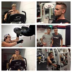 The boys at the gym!!! I love how we never see any pics of Lou working out i'm not even kidding we're made for each other we can just be like oh everyone's going to the gym let's hit up Nandos.