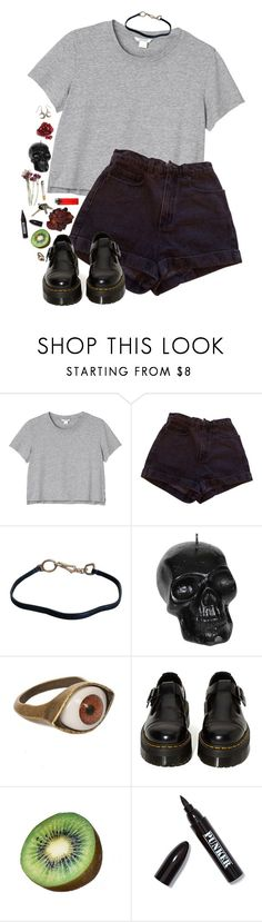 """if i cant love you as a lover i will love you as a friend"" by fuck0ffbye ❤ liked on Polyvore featuring Monki, American Apparel, Prada, Icon Jewellery, Dr. Martens, FRUIT and Ardency Inn"