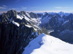 Mont Blanc Range Near Chamonix, Haute-Savoie, French Alps, France Photographic Print by Roy Rainford at AllPosters.com