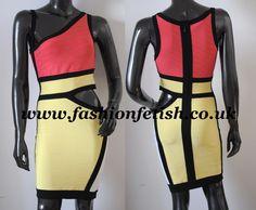 Get your Nicki Minaj Inspired Multi Colour Bandage Dress here http://www.fashionfetish.co.uk/nicki-minaj-multi-colour-bandage-dress-3347-p.asp
