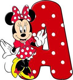 Alfabeto Decorativo: Alfabeto - Minnie 8 - Completo - PNG - Maiúsculas,...