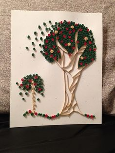 Quilled Apple Trees by jgaCreations on Etsy, $20.00